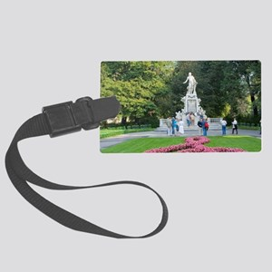 Mozart Memorial, Vienna, Austria Large Luggage Tag